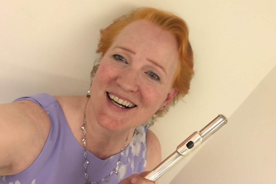 selfie backstage at intermission - Margaret was so delighted with the Schocker!