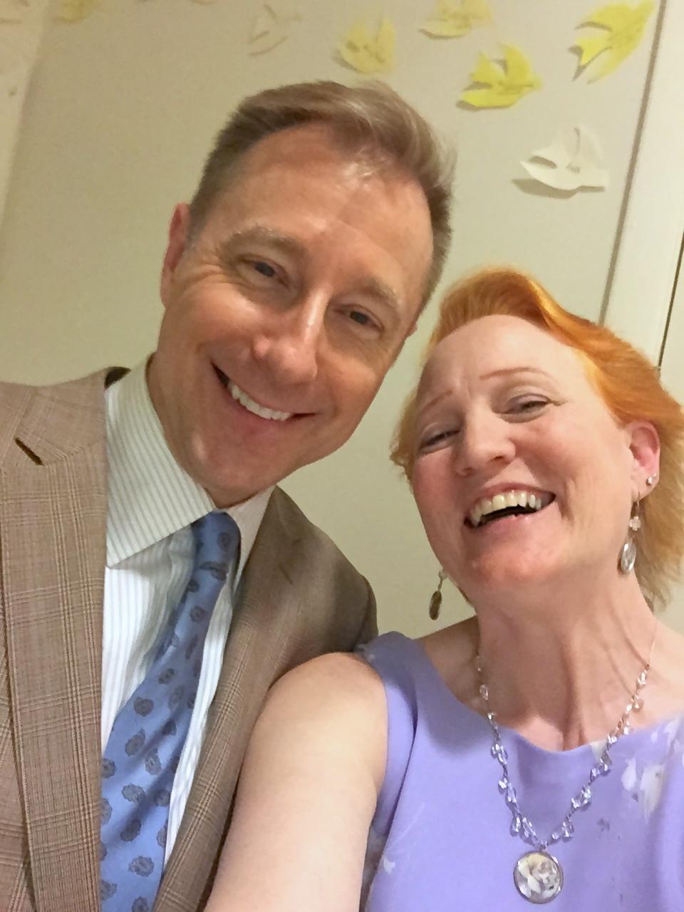 Selfies back stage - Don & Margaret