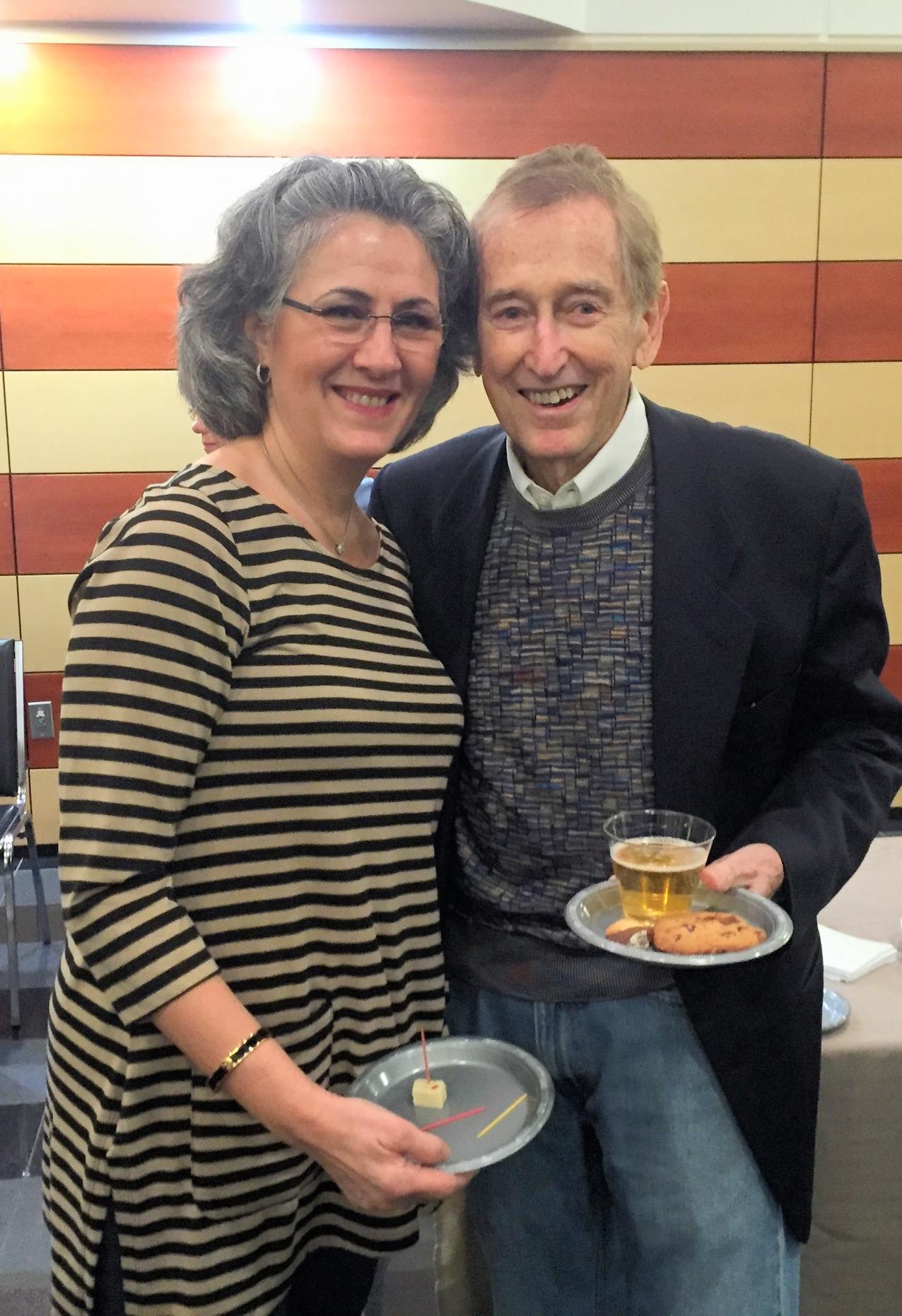 FLCC Director Robin Schamach with Advisory Board member Bob McGrath