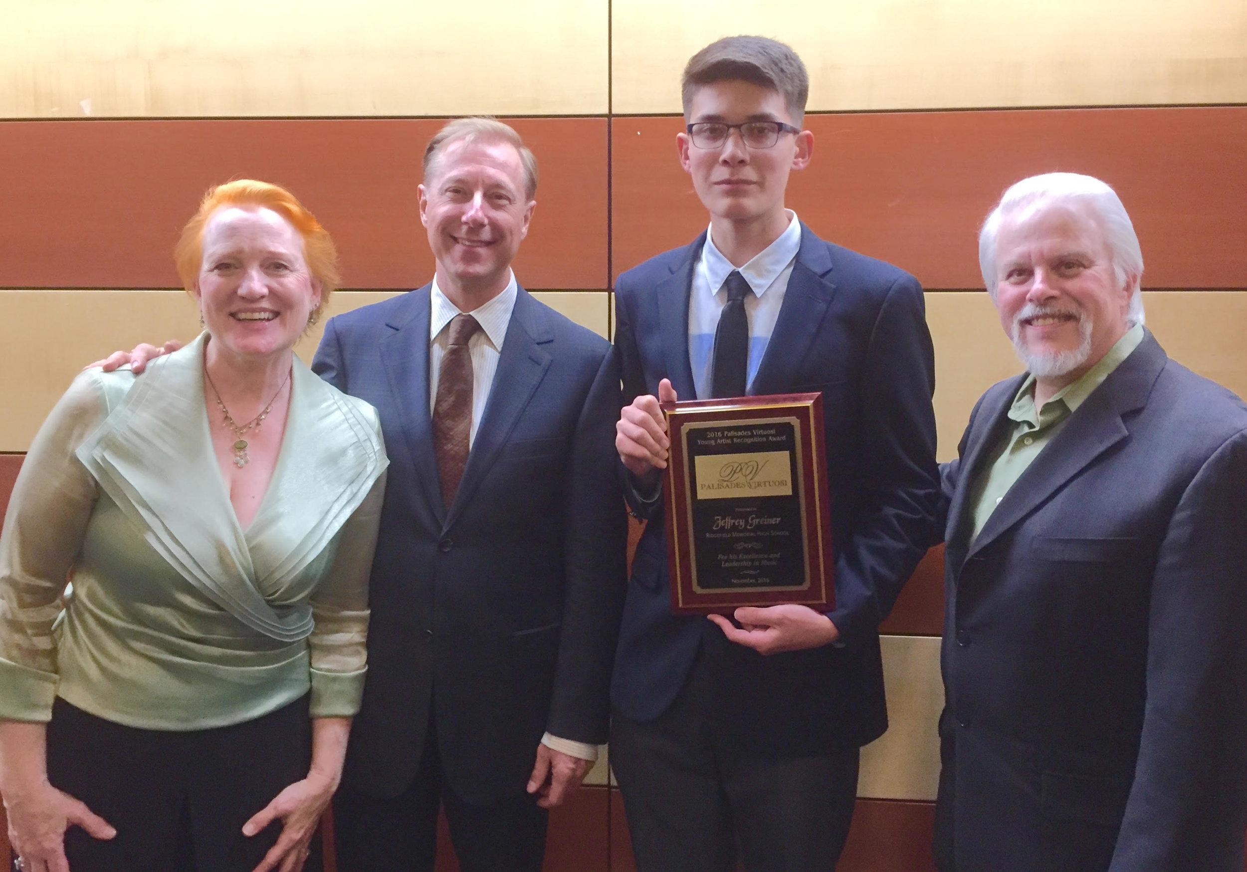 PV with 2016 Award winner, Jeffrey Grenier