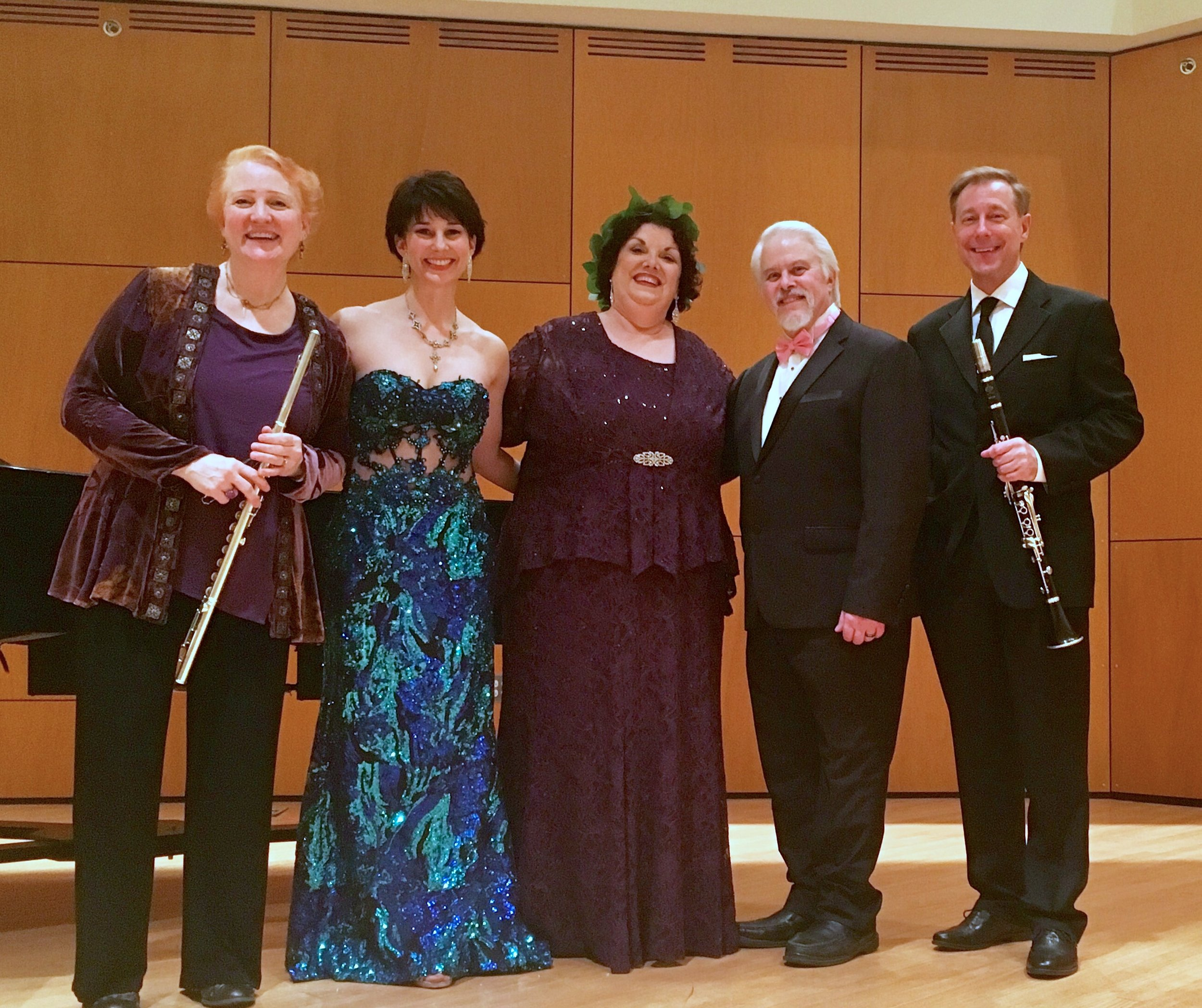 MSU Faculty members Barbara Dever & Ron Levy with Margaret & Don and guest artist Kristen Plumley, soprano