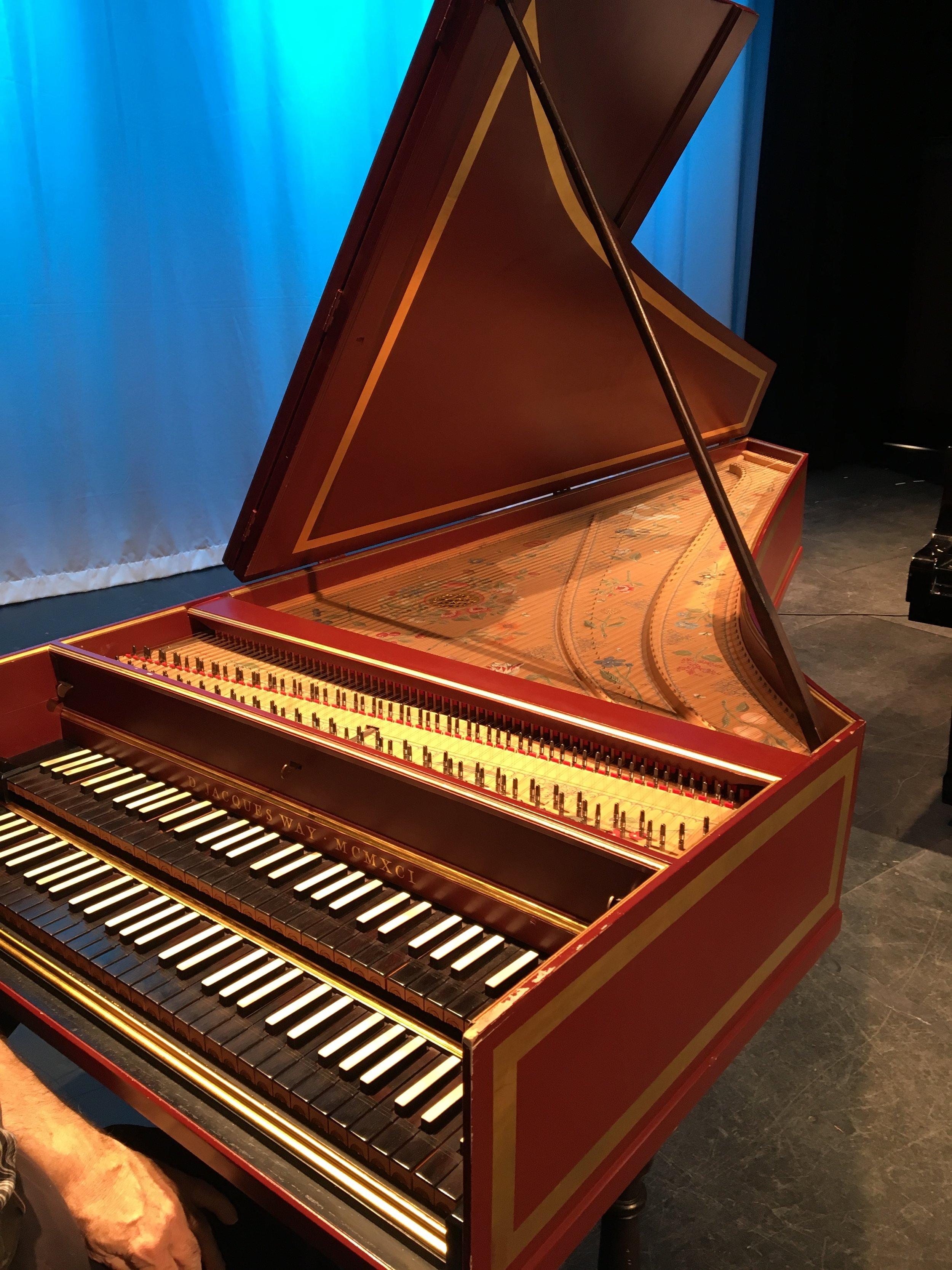 That beautiful harpsichord!