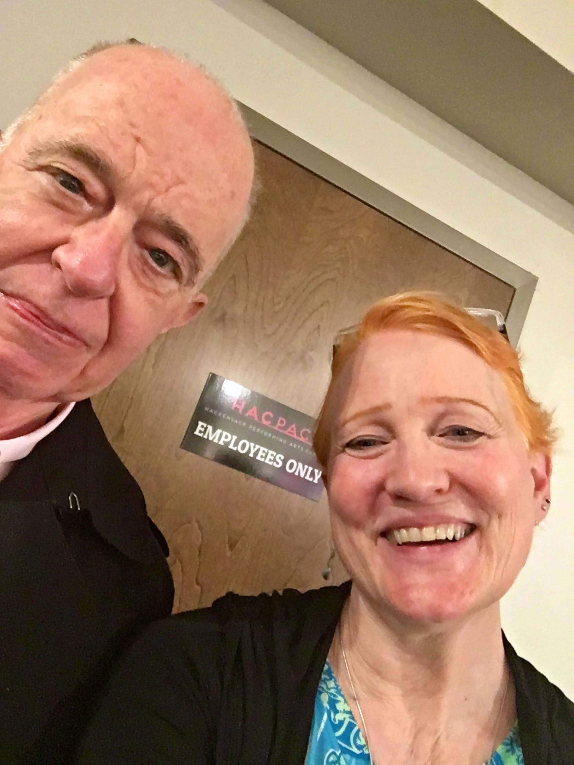 Margaret with PV Board president, Jon Martin