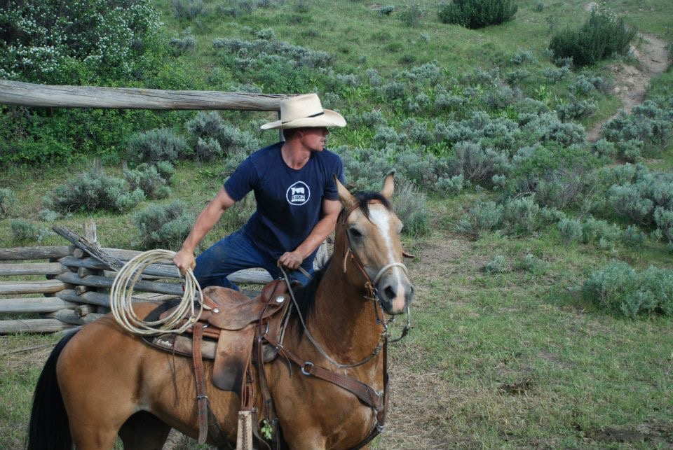 At work on the ranch.