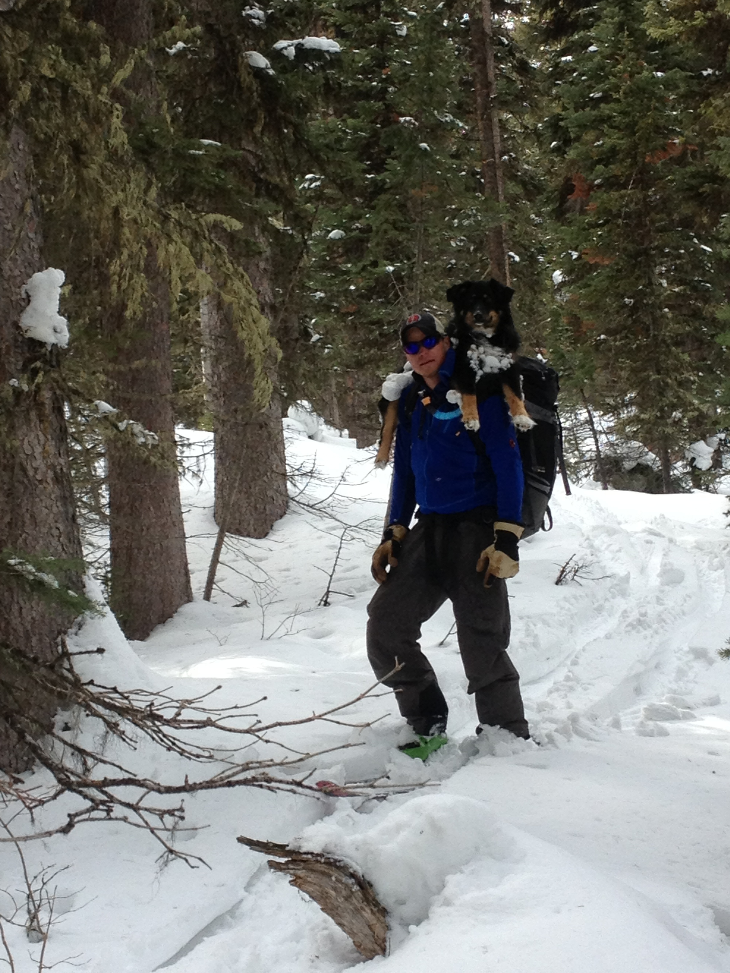 Anthony in the backcountry.