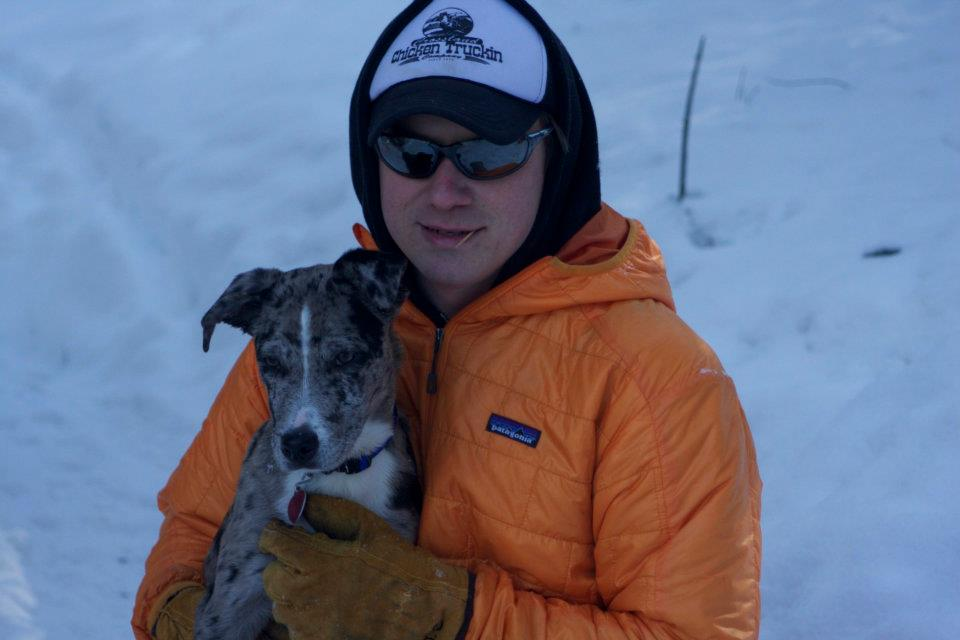 Alex and Scotch Dog.