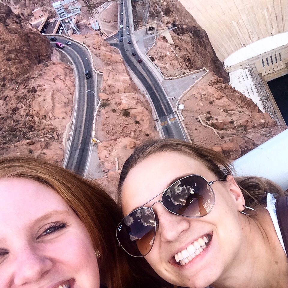 Dani and I more recently: October 2014 at the Hoover Dam.