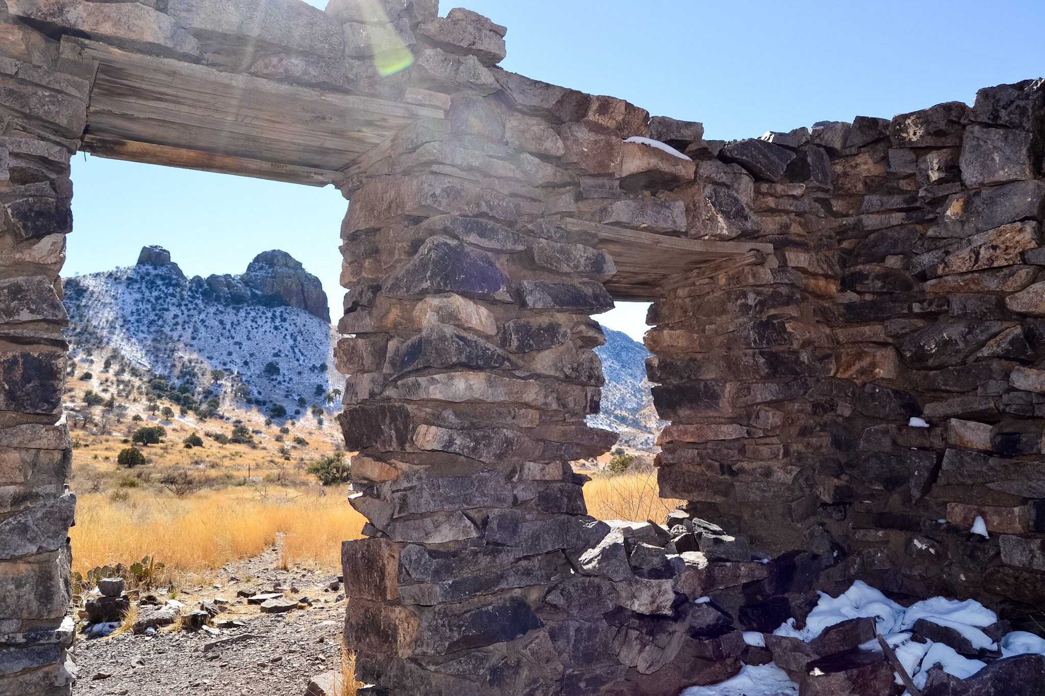 An old outpost in Bar Canyon, Organ Mountains