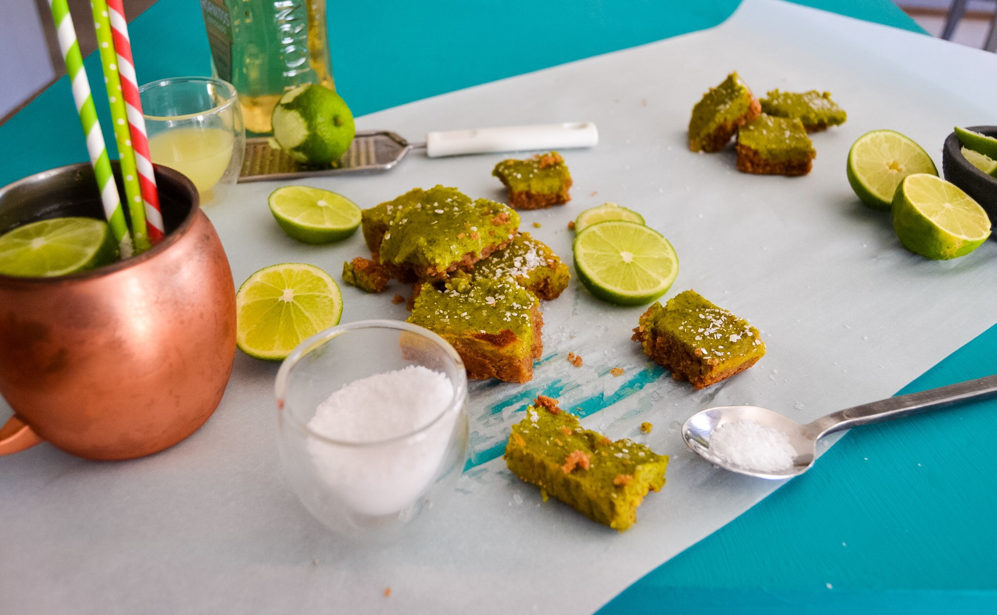 Grain-free Salted Tequila Lime Bars