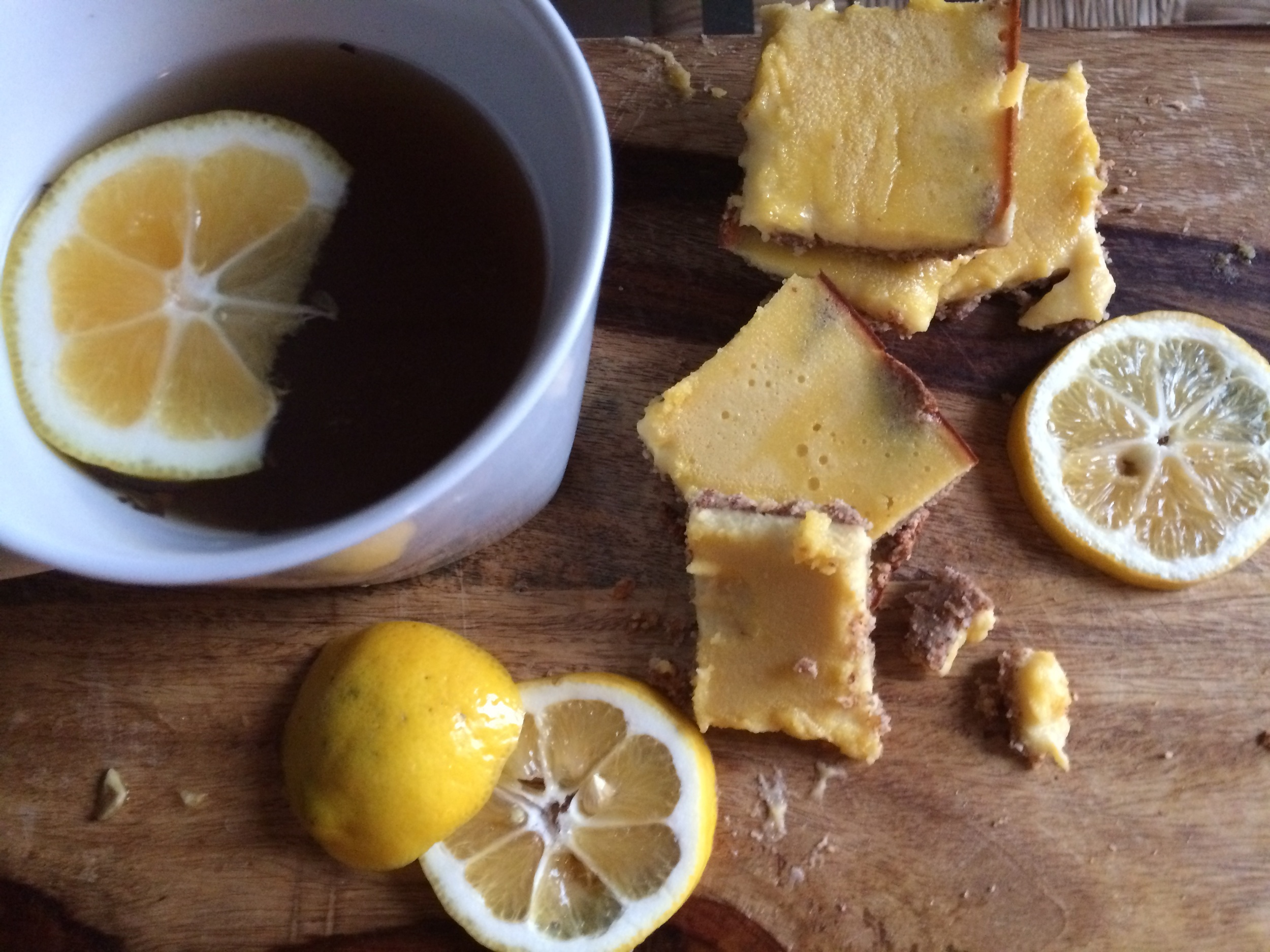 Paleo Lemon Bars , shot with my iPhone 5s
