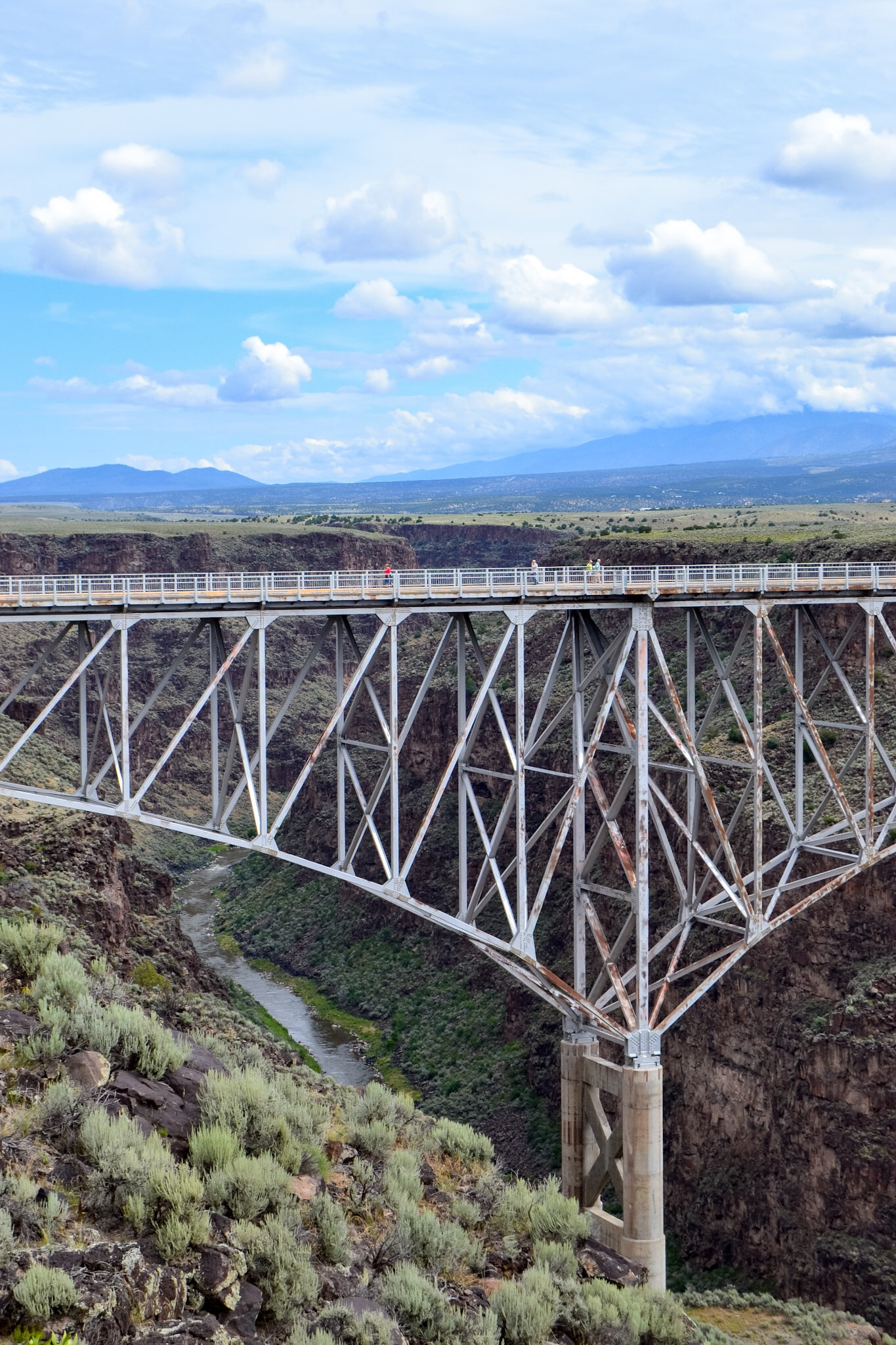 The Rio Grande River Gorge Bridge outside of Taos, New Mexico