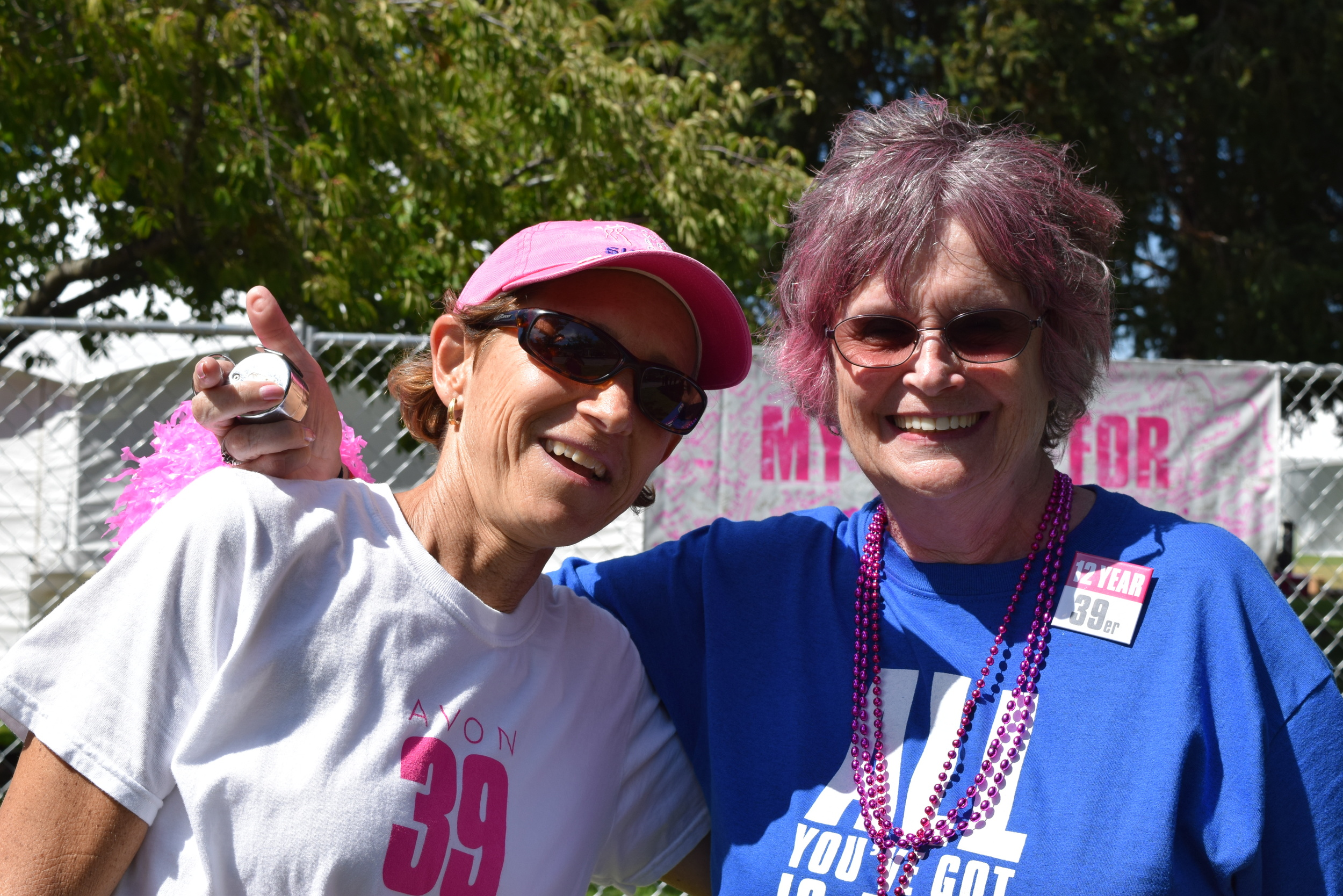 Tami, a 12 year survivor (and 12th year walking), and her mom, working crew at the walk.