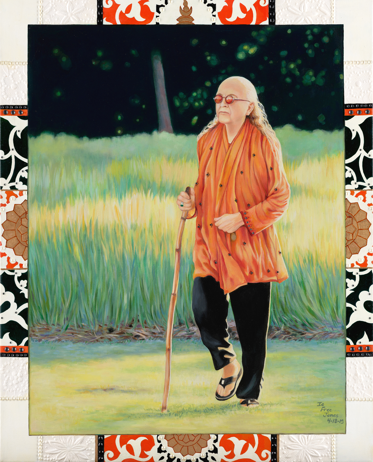Bhagavan Adi Da Walking in the Brightness Meadow, 2015