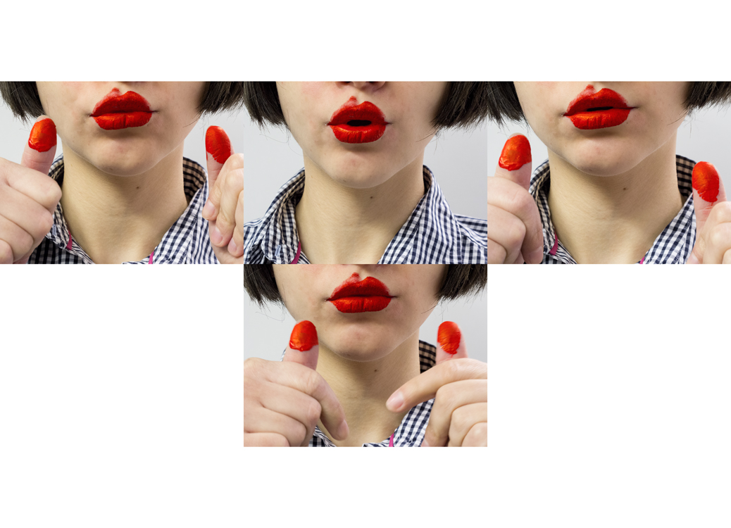 Painting Lips (Cross Lips), 2014   Pigment print on matte cotton rag paper, 13 x 19 inches, edition of 3
