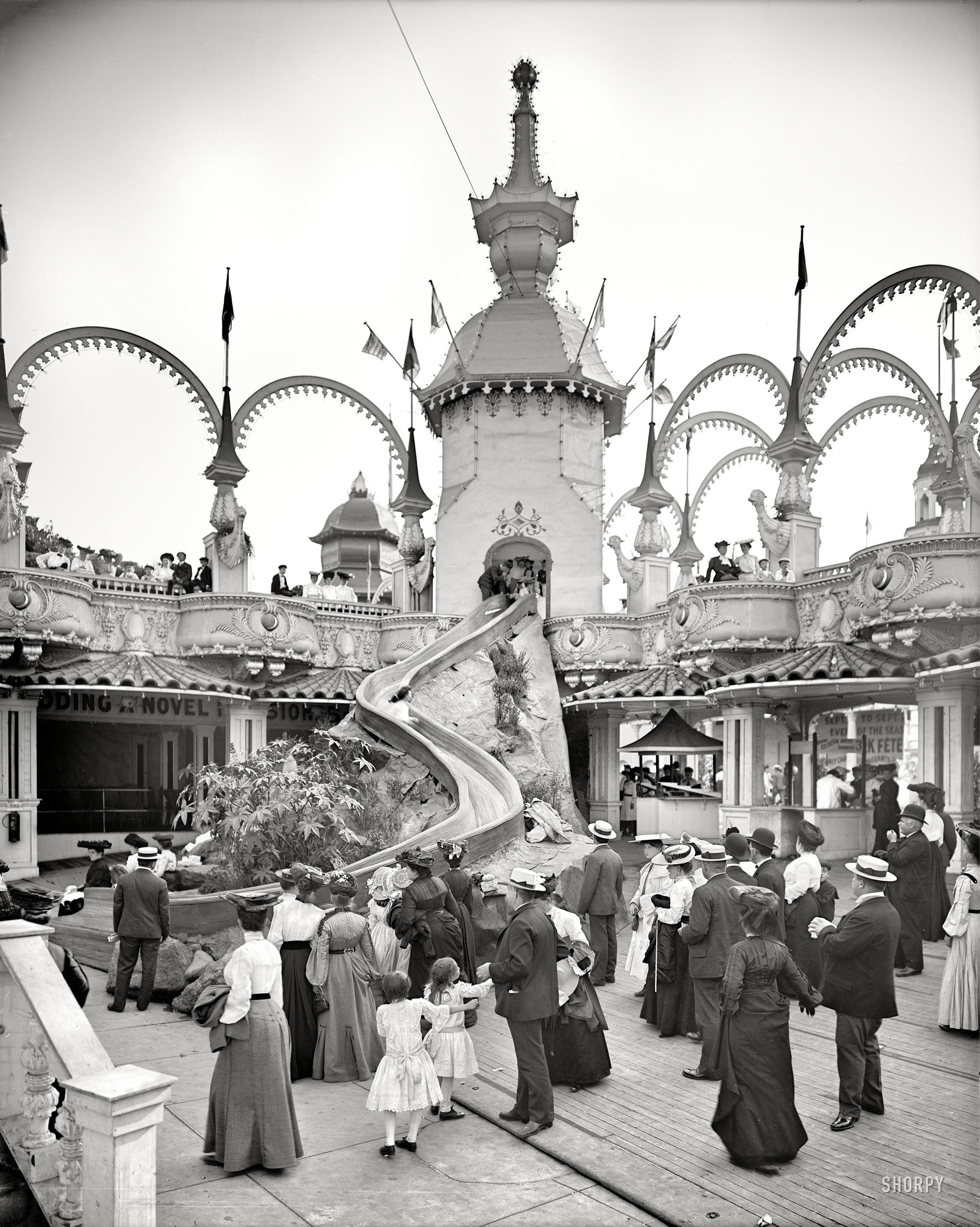 The Helter Skelter Ride, Luna Park, 1905. (h/t Shorpy)