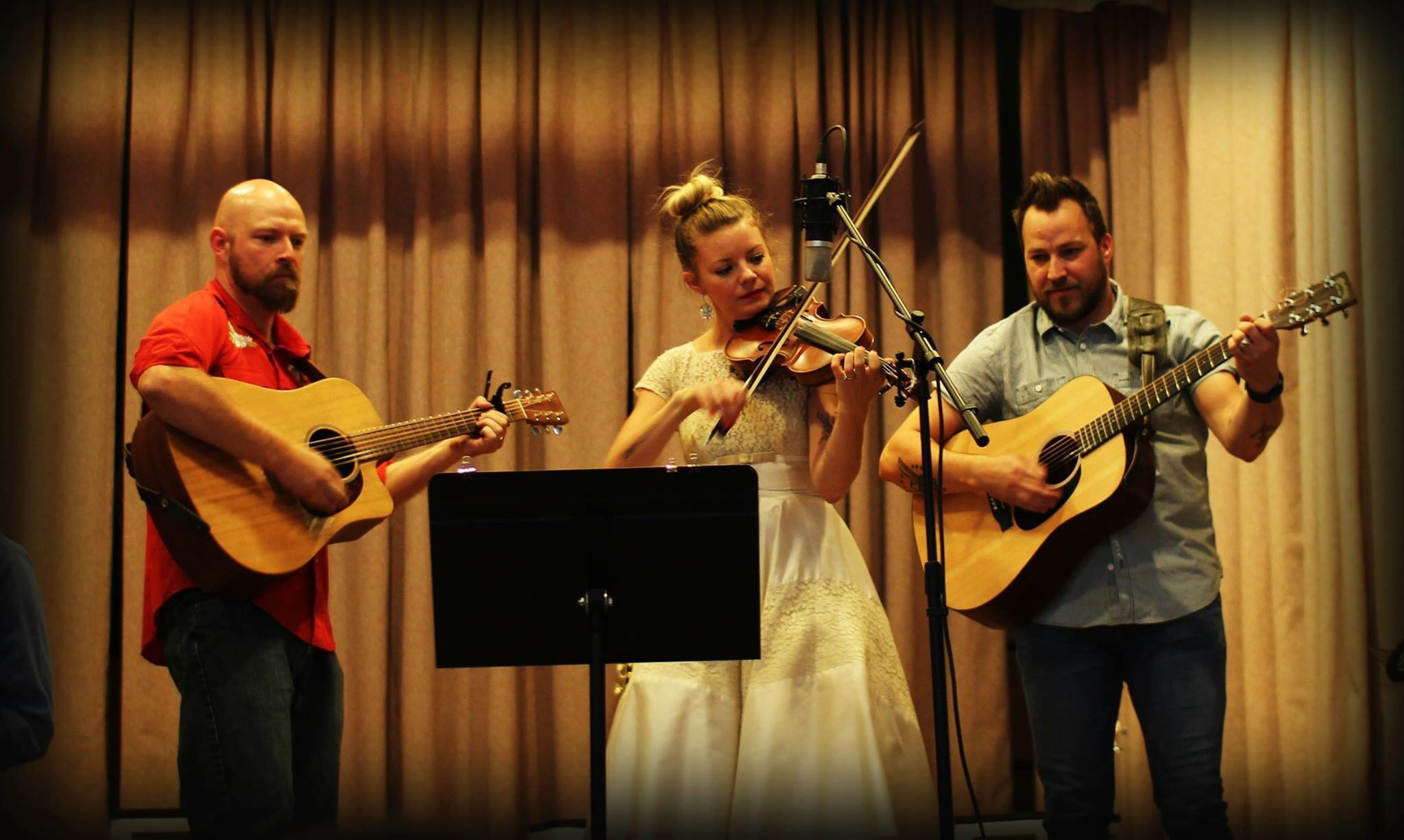 Kevin Morgan, Jenny Anne Mannan and Jacob Mannan bust it like a mule.