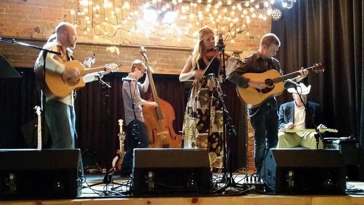 Kevin Morgan, Jacob Mannan (behind Kev), Drew Miller, Jenny Anne Mannan, Kit Bulla and Duane Becker at the May 31st Northwest of Nashville.