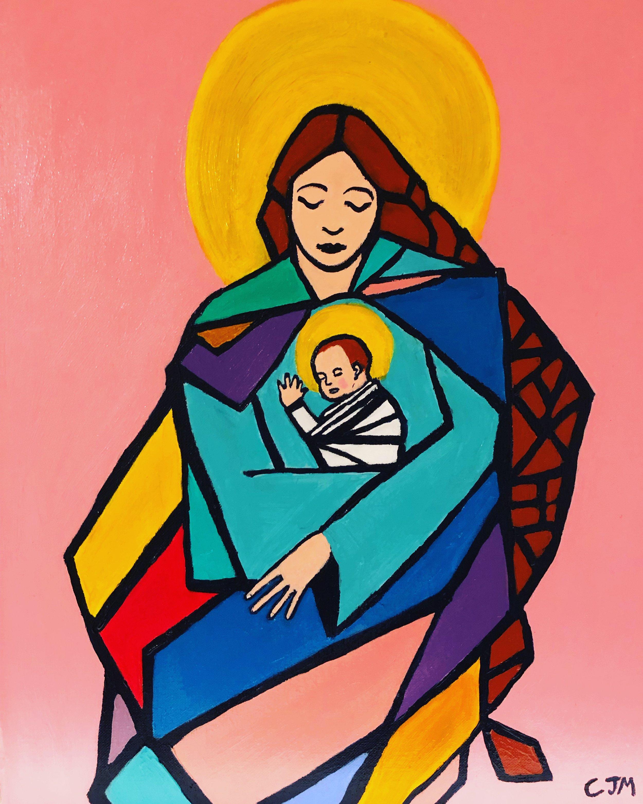 Momma Mary and Baby Jesus, Caleb Mannan, 12-2018.