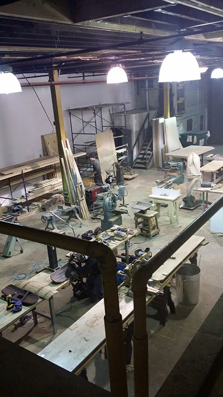 Supersmith communal woodshop