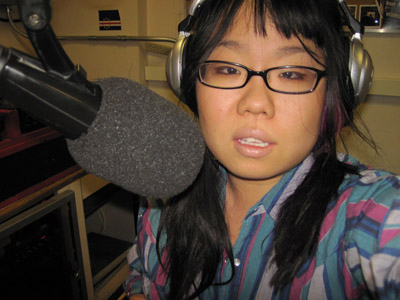 Five minutes to air in the BSR studio, circa 2009.