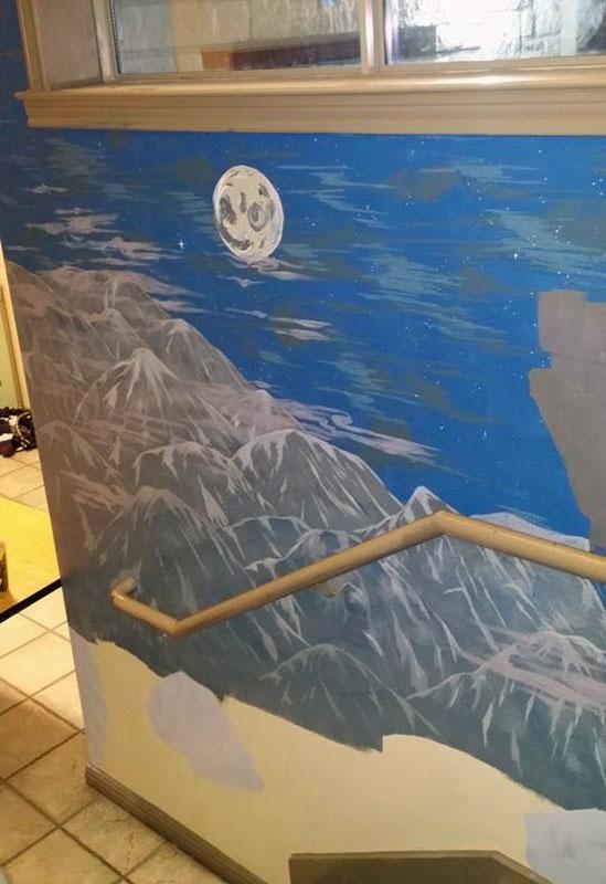 Night Panel (bottom of stairs)