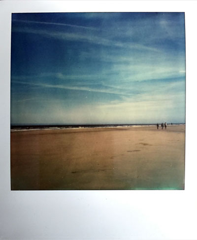 The beach (Polaroid SX-70 and Impossible Project colour film)