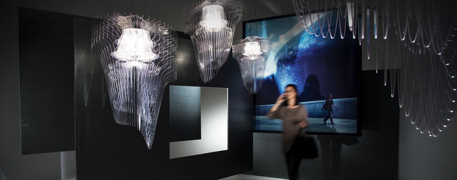 SLAMP - ARIA TRANSPARENT design by Zaha Hadid