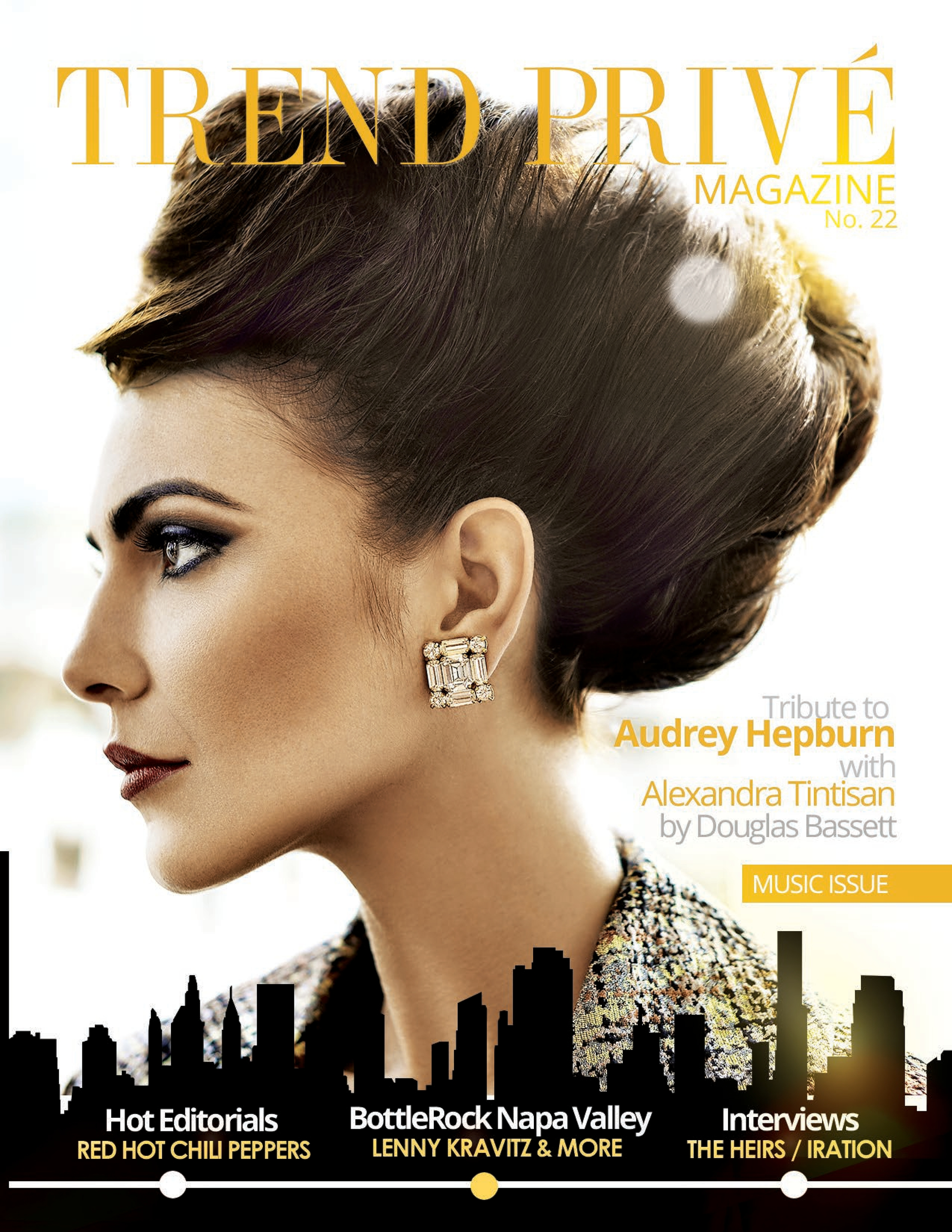 "Cover Tribute to "" Haudrey Hepburn "" - Trend Privè Magazine"