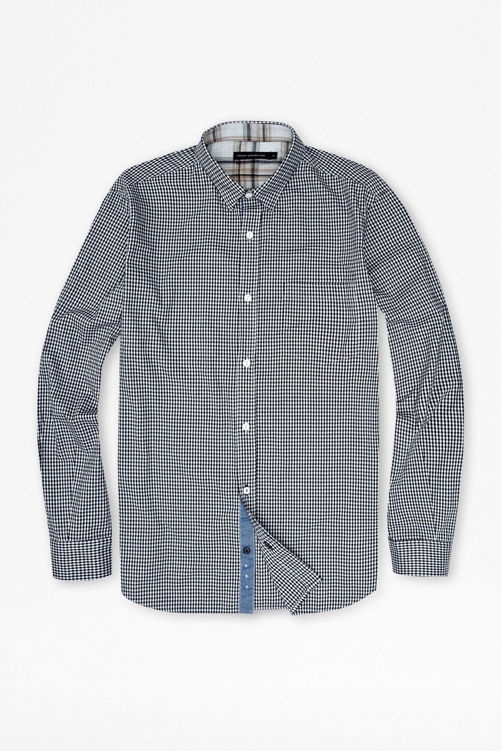 French Connection Wax Gingham Shirt £50