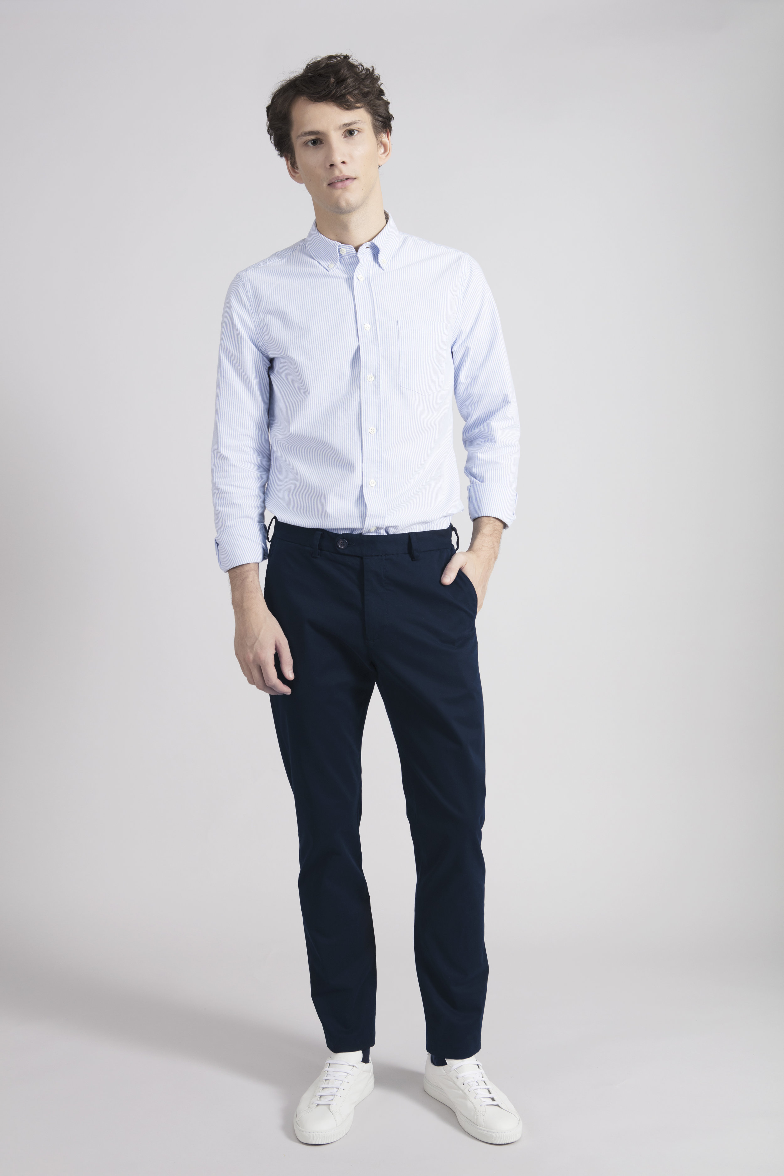 Navy Chinos from ASKET £110