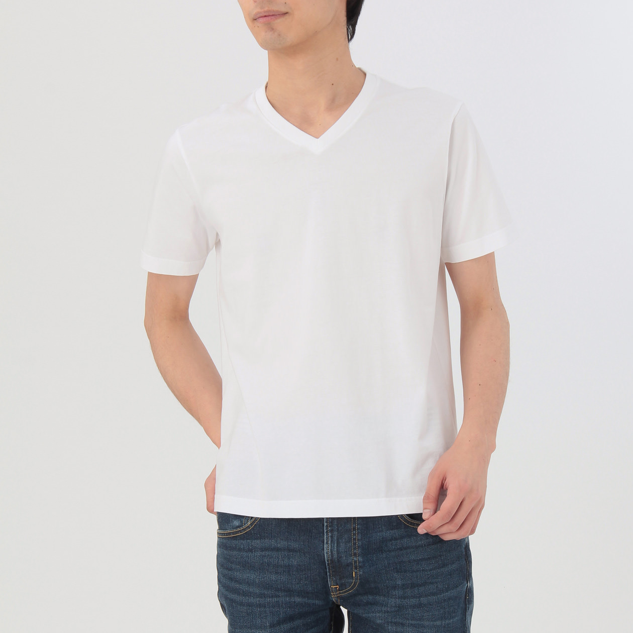 Muji Organic T-Shirt also available in round neck