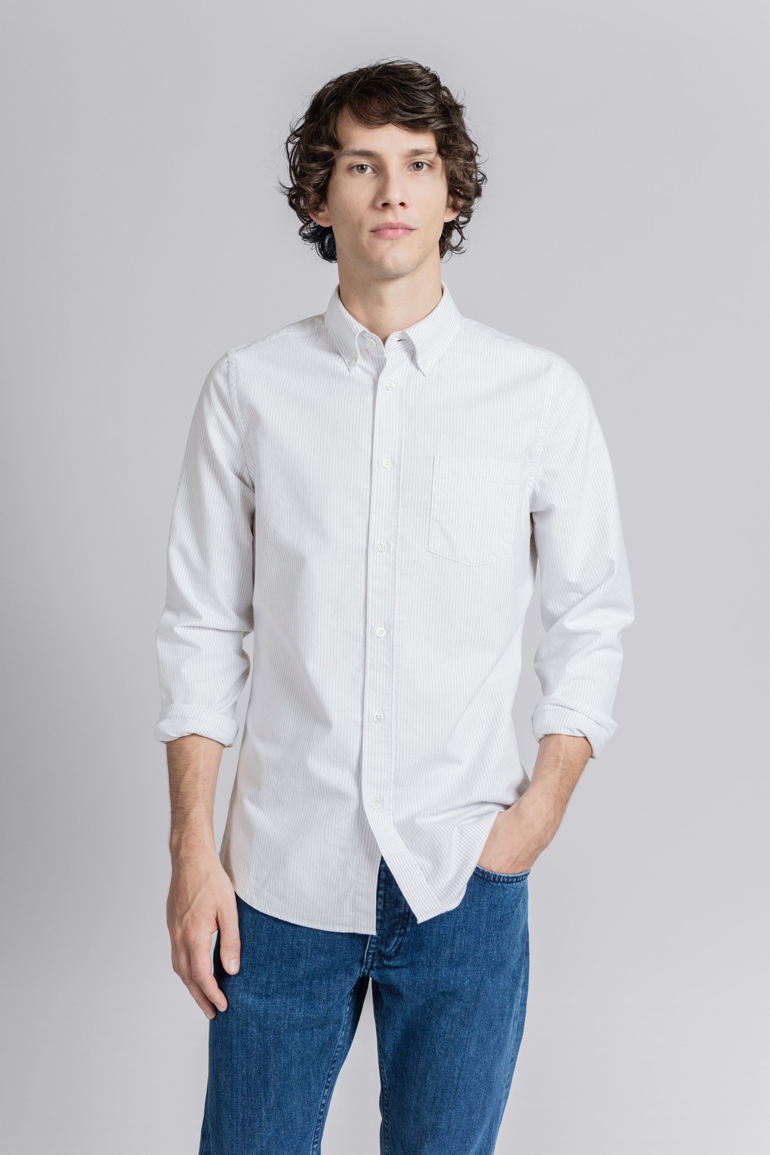 Asket The Oxford Shirt £80 available in other colours.