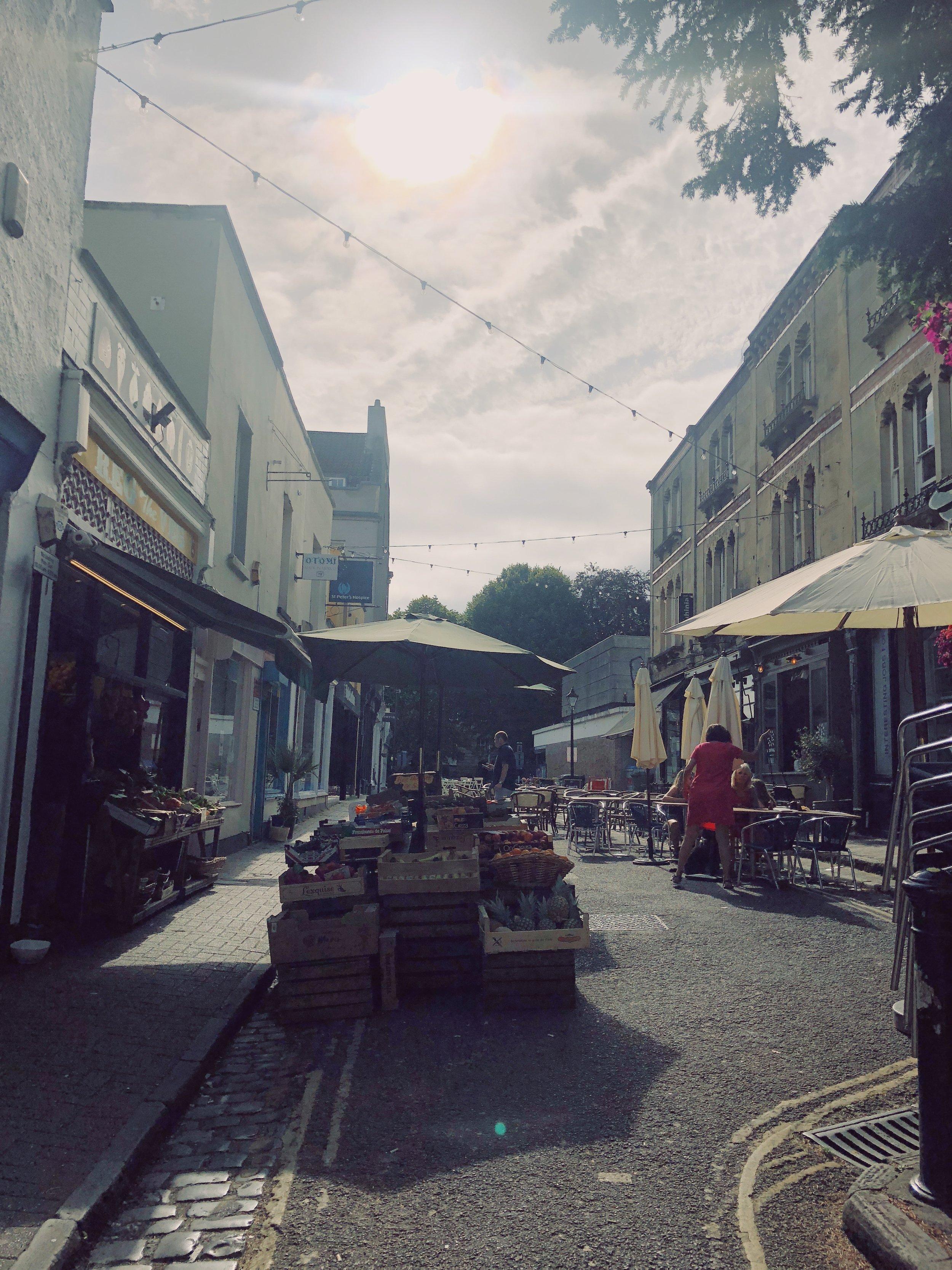 Fruit & Veg shop outside the Arcades