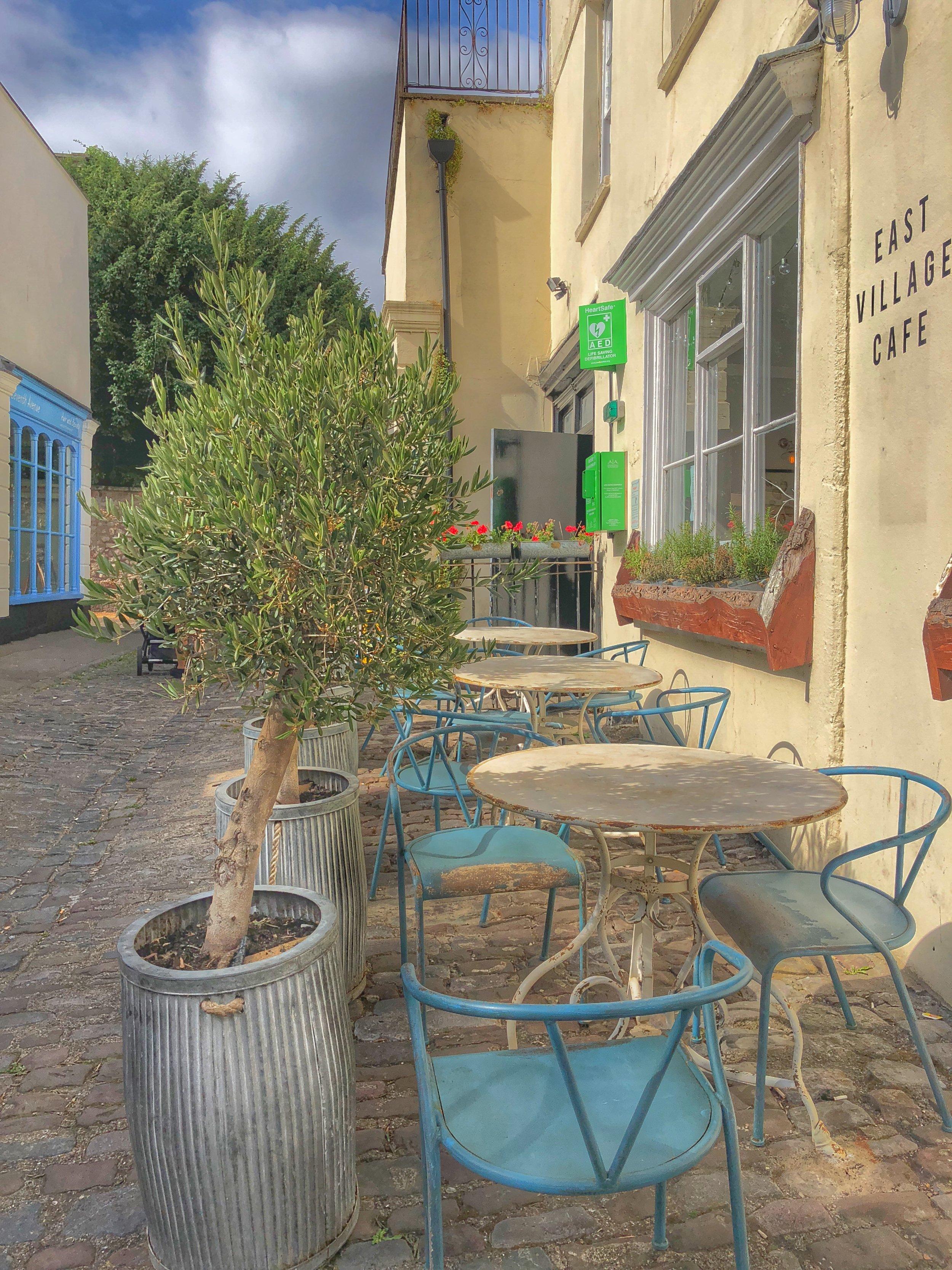 Outside East Village Cafe