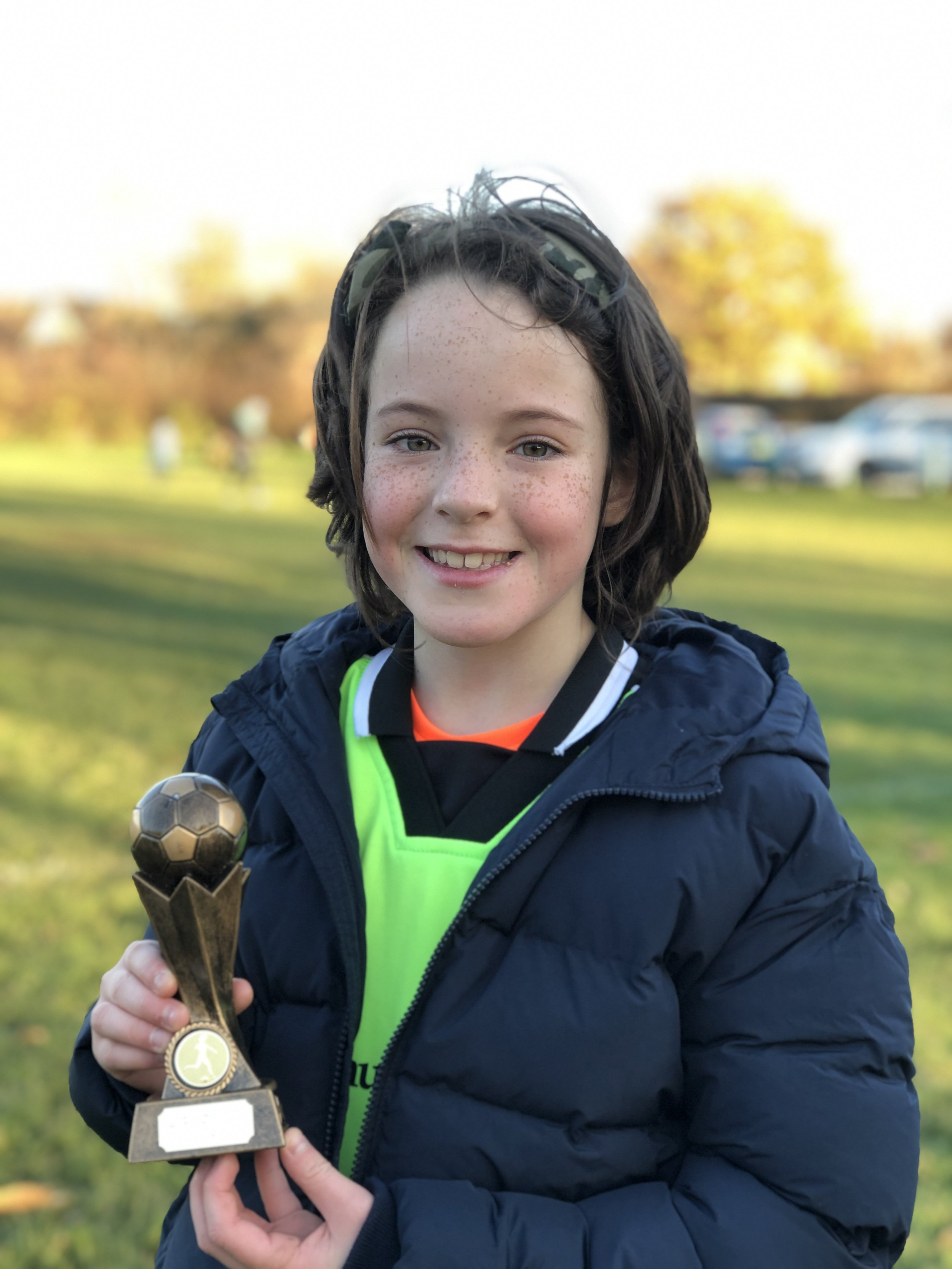 Nerea: Girl of the Match, for her first match! Hat Trick…well done!