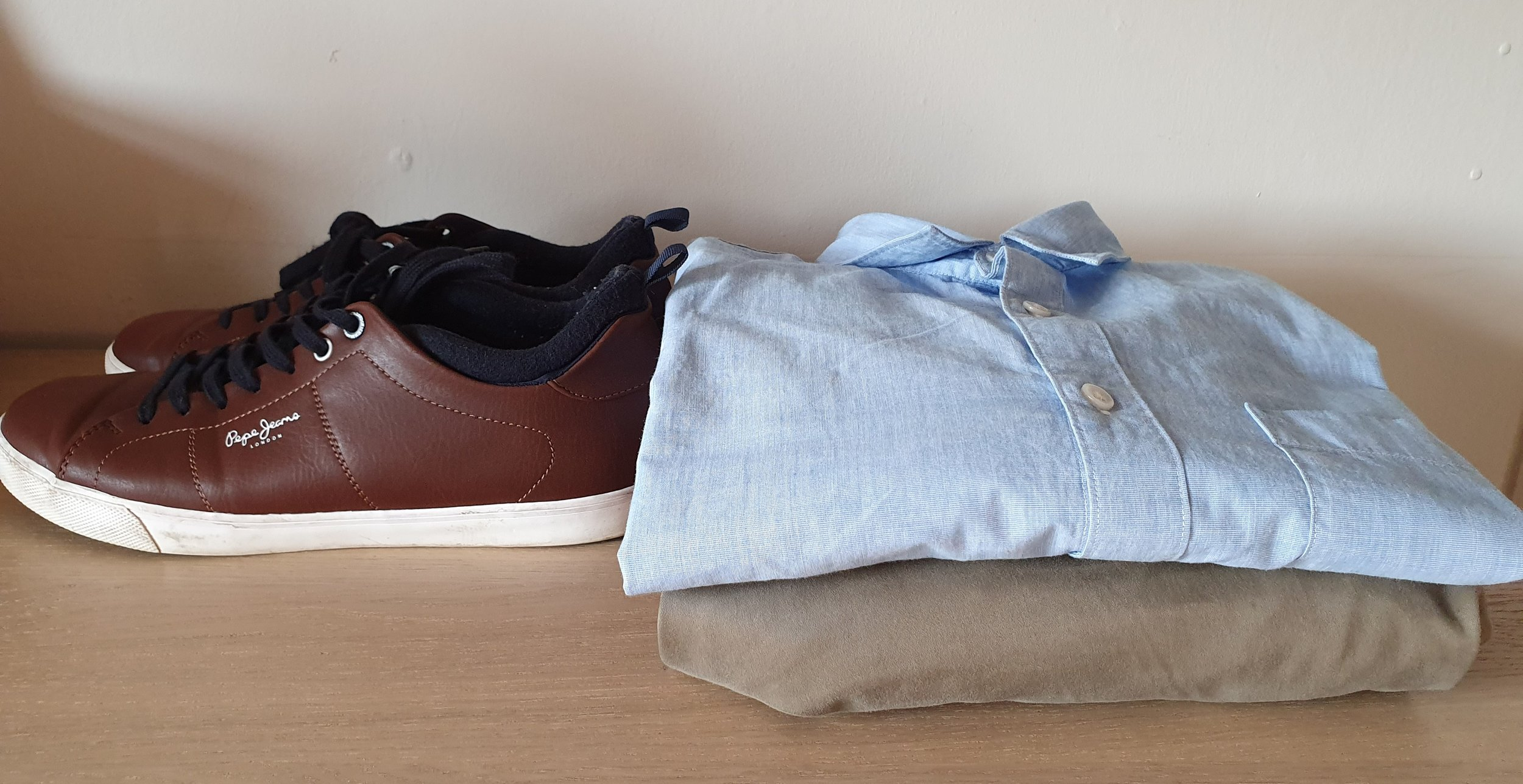 Pepe Jeans Trainers, Jack & Jones Chinos, Muji Shirts