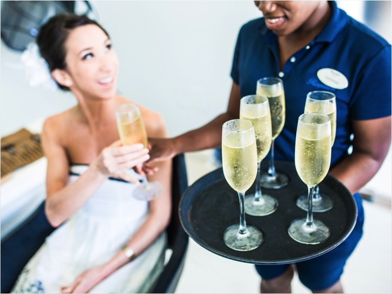 a - a - Rose hall Great House Wedding - getting ready champagne.jpg
