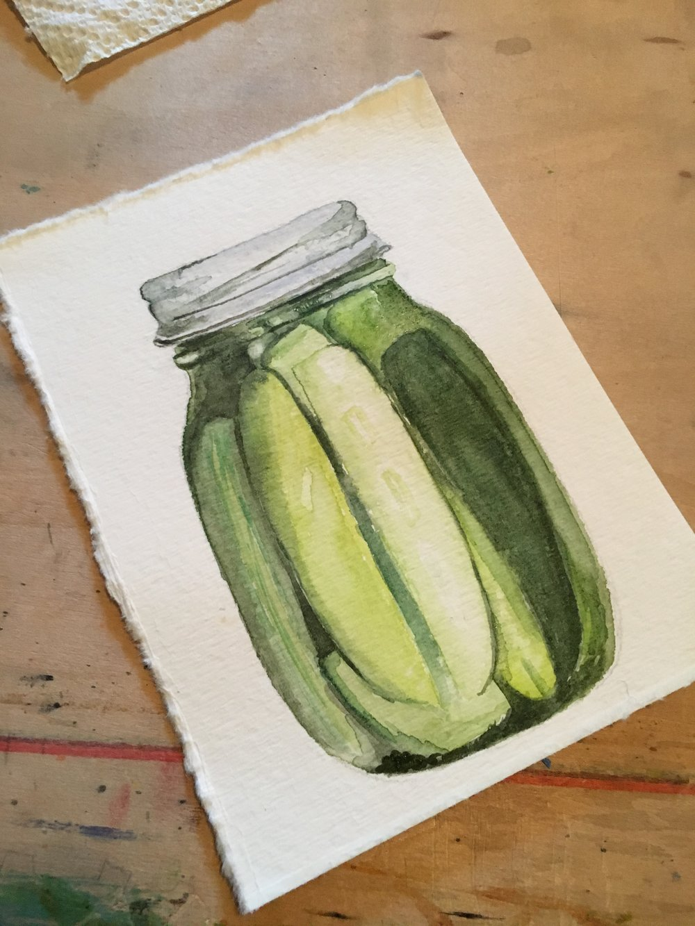 Summer Pickles *SOLD*   | Watercolor 2017