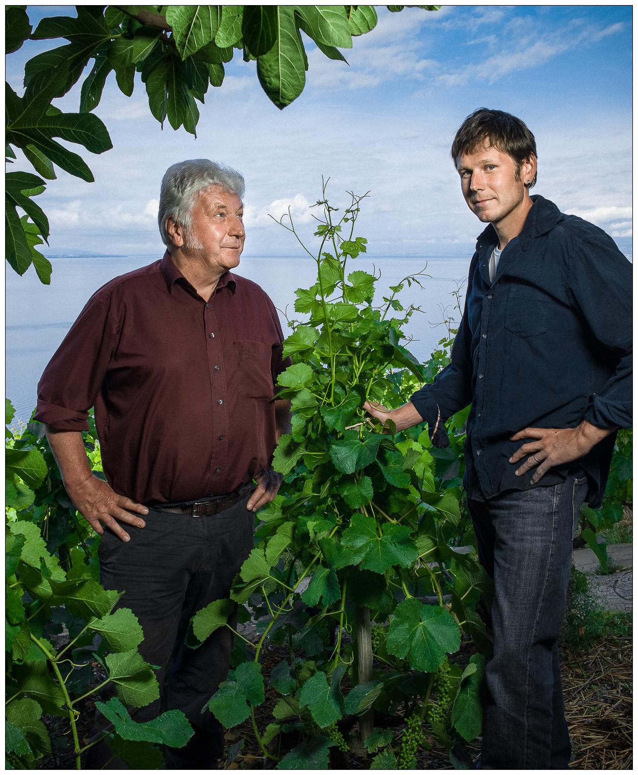 Henri et Vincent Chollet, vignerons