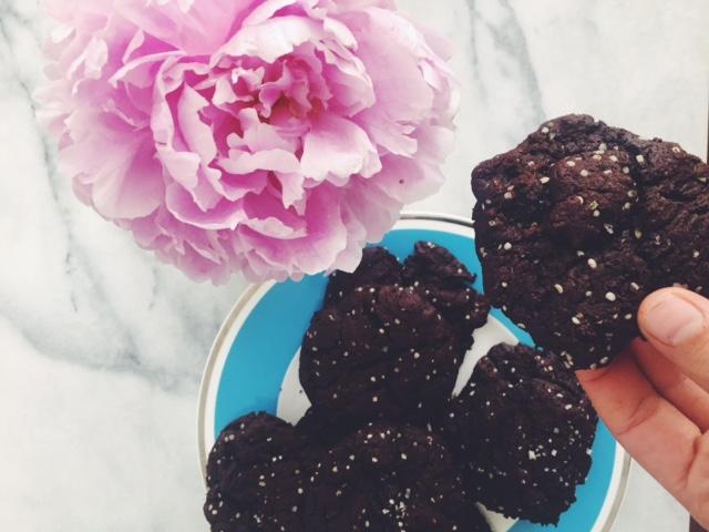 buckwheat chocolate cherry cookies