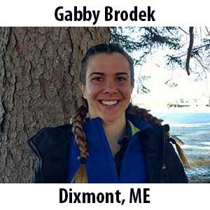 Gabby Brodek  (Dixmont, Maine) B.S. (2017) in Environmental Science from Drake University. Growing up in rural Maine, Gabby instantly fell in love with the outdoors. She finds plenty of ways to get outside doing yoga, hiking, reading in the sun, and looking at aquatic insects. In the summers, Gabby spends her time in Northern Maine as a raft guide leading trips down Class IV and V whitewater. A year ago she was in Trinidad exploring the rainforest, eating mangoes and bananas off trees, and participating in guppy research. Gabby worked as an Educator at The Ecology School this past Spring and Fall and is excited to be returning to share her passion for ecology and water with you (she also loves jokes, so share those too)!