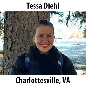 Tessa Diehl  (Charlottesville, Virginia) B.S. (2017) in Biology from William & Mary College. Tessa has been explorin' and adorin' the outdoors for as long as she can remember. Growing up in Charlottesville, VA she was never more than a few hours drive from a wonderful hike, river kayak trip, or day at the beach. Tessa is an avid fan of live music, witty puns, campfire conversations, and hearty belly laughs. (Strike up a conversation with her about any of these topics!) This will be Tessa's fourth term as an Educator at The Ecology School and she is excited to continue sharing her passion for ecology and the outdoors with students this fall!