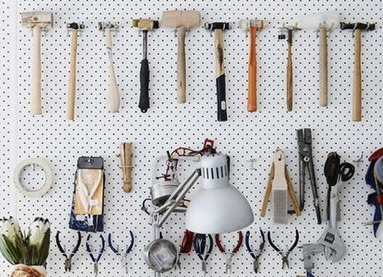 Tool organisation! Image from Pinterest.