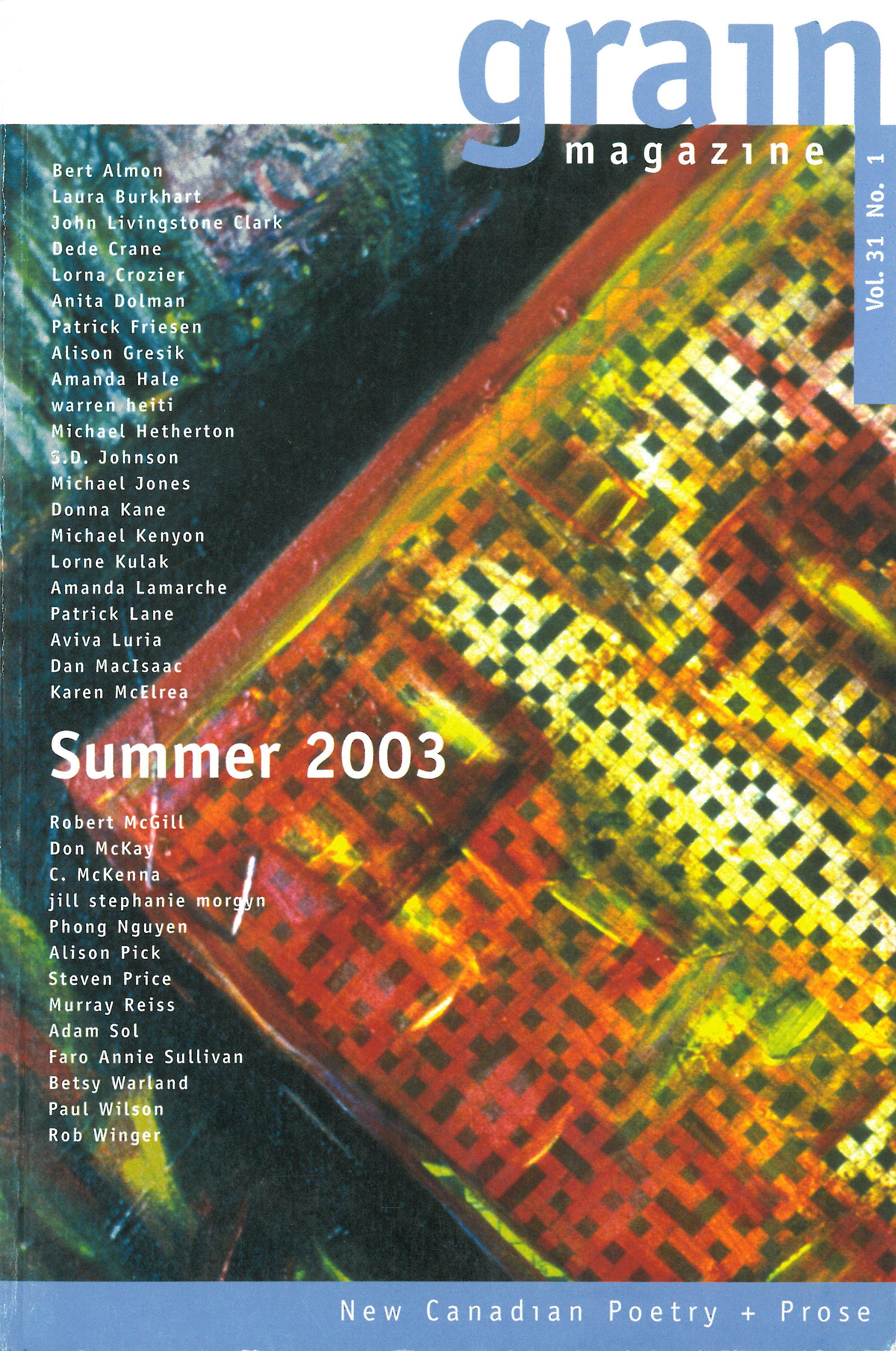 31.1 Summer 2003