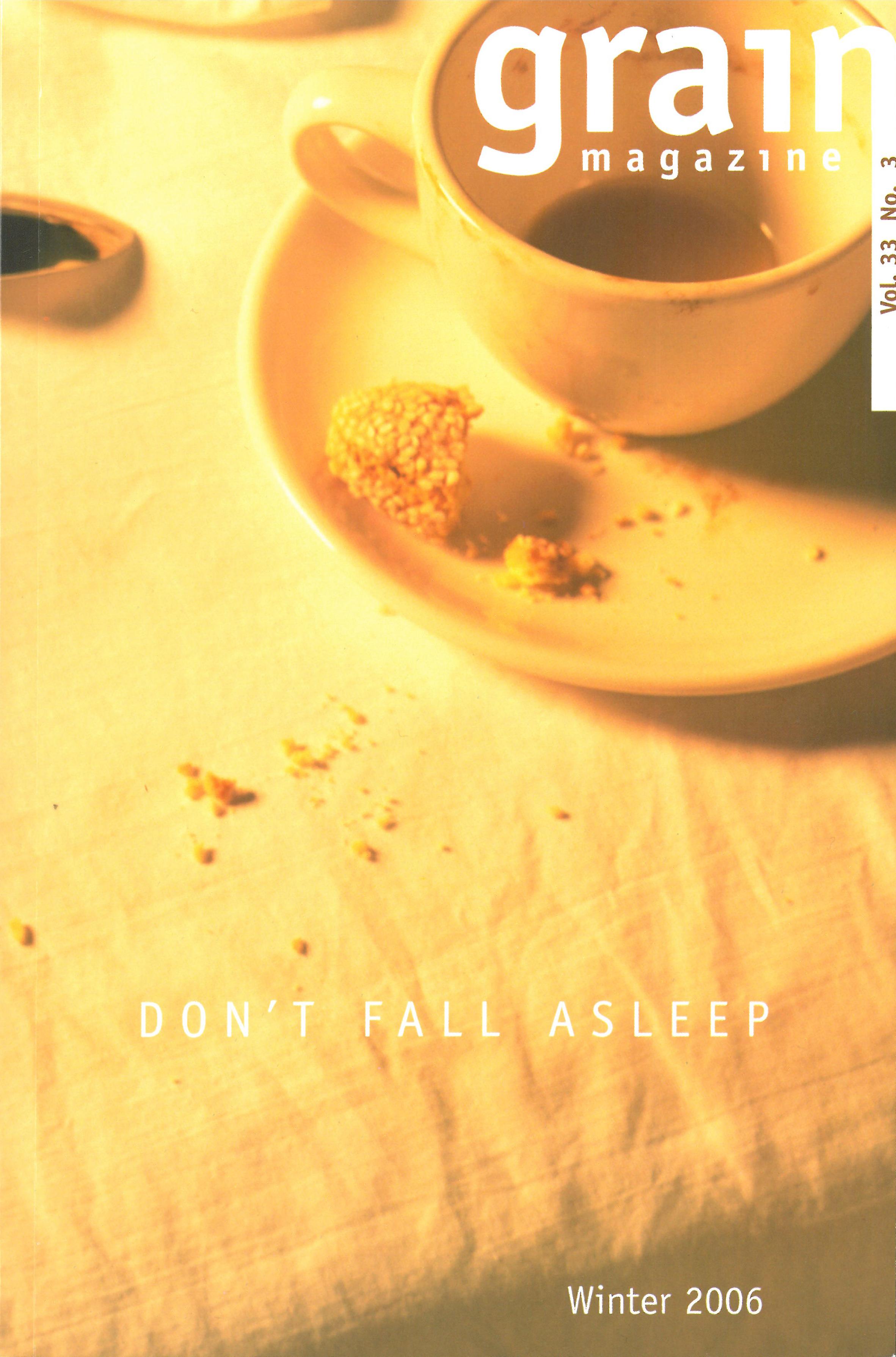 33.3 Winter 2006, Don't Fall Asleep