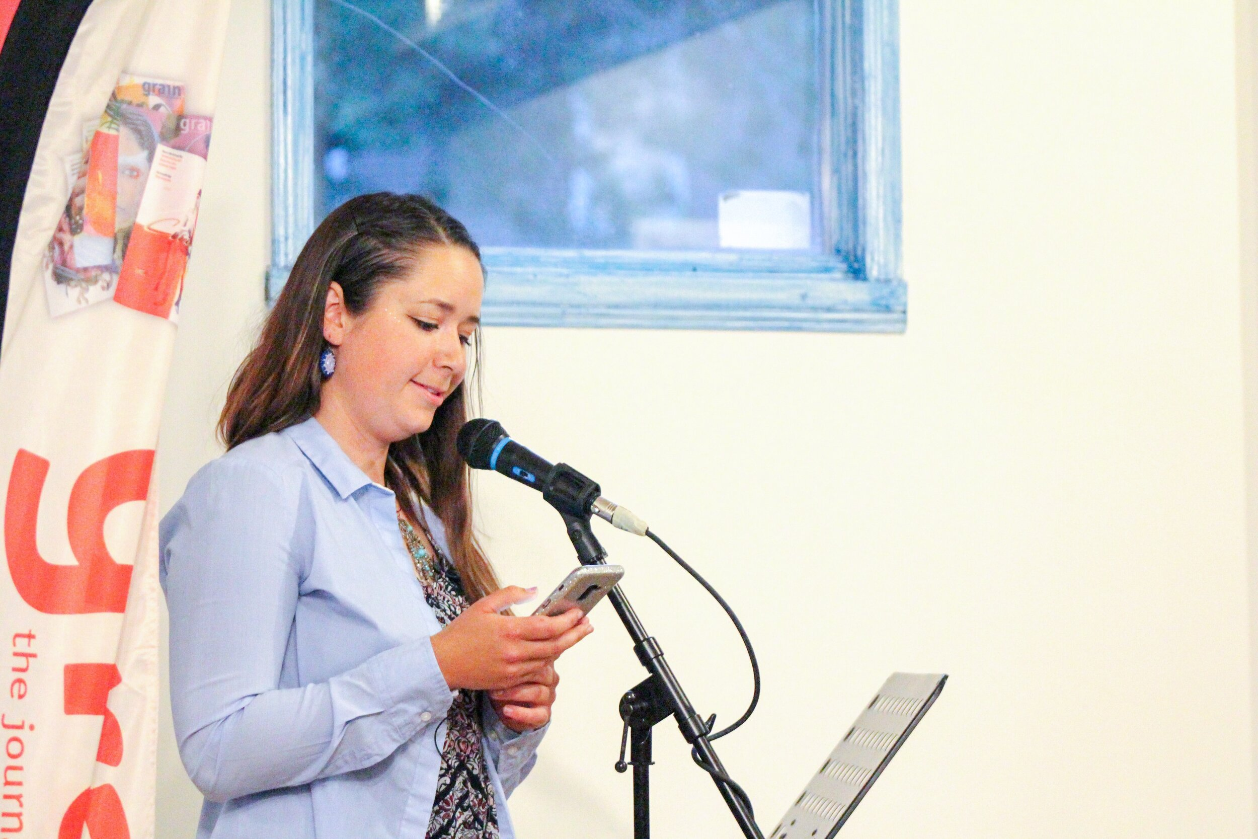 """Michela Carrière reading from her love story, """"The Moth and the Fox"""""""
