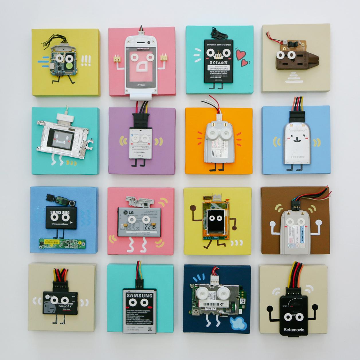 Junk square series (2016)Mixed media. FORI SIM