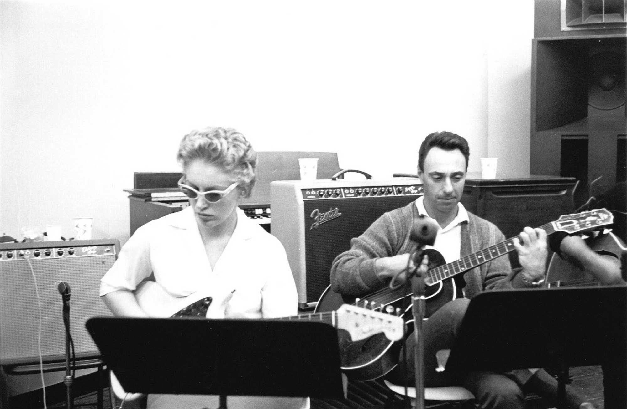 Carol Kaye in session