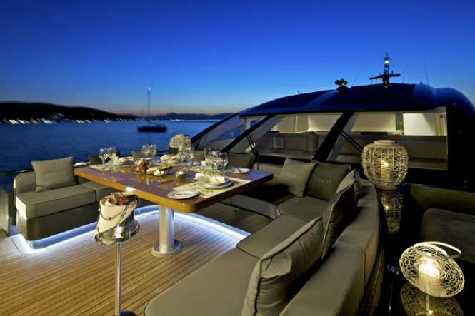 Yacht OPATI -  Foredeck Dining at Night-665.jpg