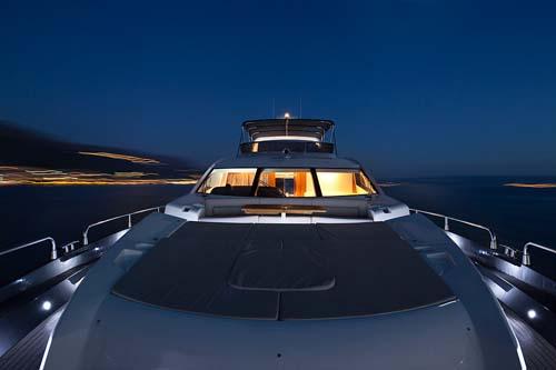 yacht at night natural park